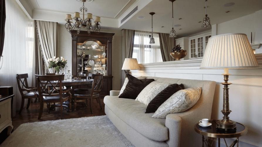 Американский стиль в интерьере | Как организовать: отделка, освещение, мебель и декор