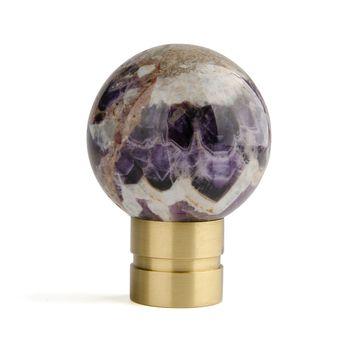Мебельные ручки Ручка-шар с декоративным камнем R025